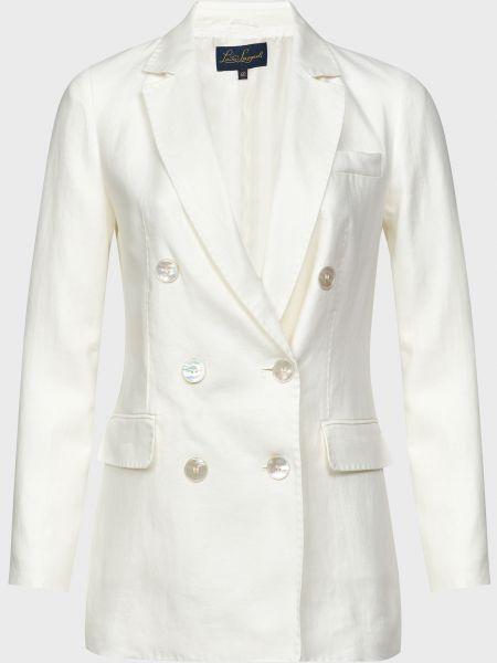 Белый пиджак на пуговицах из вискозы Luisa Spagnoli