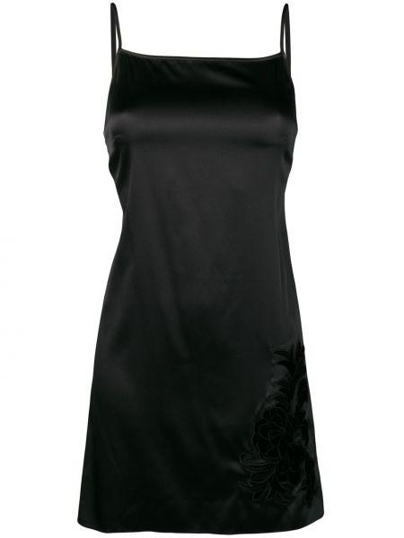 Тонкая черная бархатная рубашка на бретелях Myla