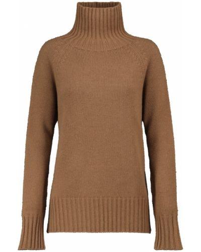 Beżowy z kaszmiru sweter S Max Mara