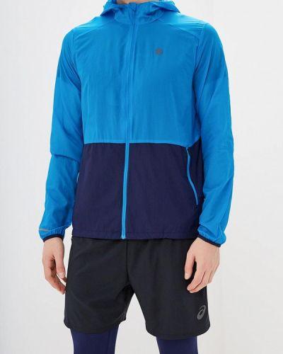 Куртка осенняя легкая голубой Asics