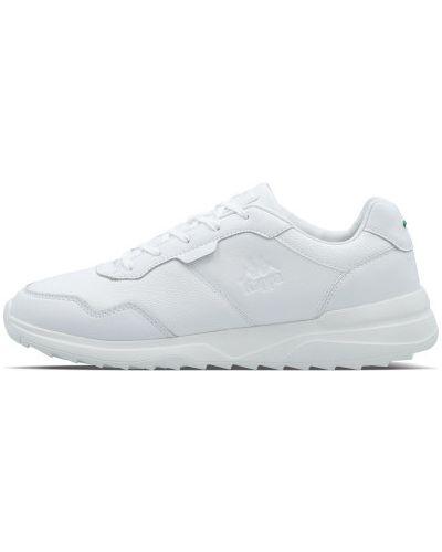 Белые кожаные кроссовки Kappa