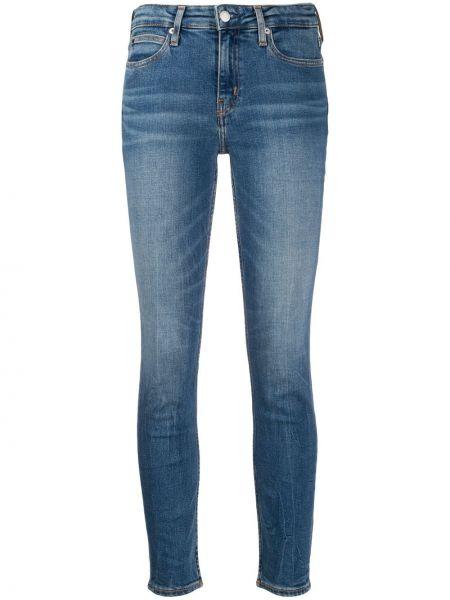 Джинсы-скинни на пуговицах с поясом с пайетками Calvin Klein Jeans
