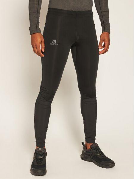 Ciepłe czarne legginsy Salomon