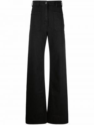 Mom jeans bawełniane - czarne Lemaire