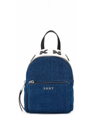 Синяя сумка на плечо круглая Dkny