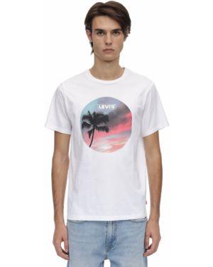 Biały t-shirt bawełniany Levi's Red Tab
