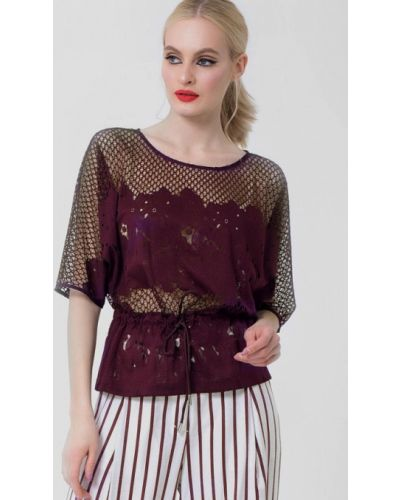 Блузка кружевная весенний Lo
