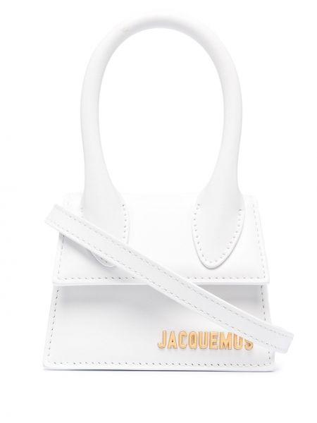 Золотистая белая кожаная сумка на плечо Jacquemus