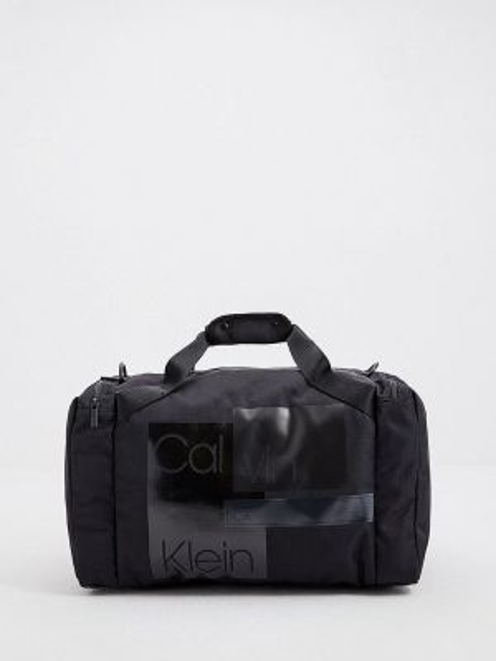 Спортивная сумка текстильная черная Calvin Klein