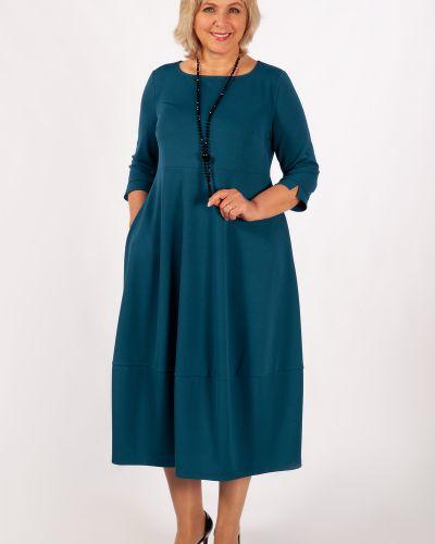 Приталенное платье в стиле бохо на торжество с карманами милада