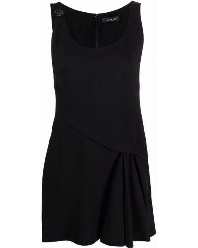 Шелковое платье мини - черное Versace