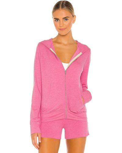 Różowa bluza bawełniana Monrow