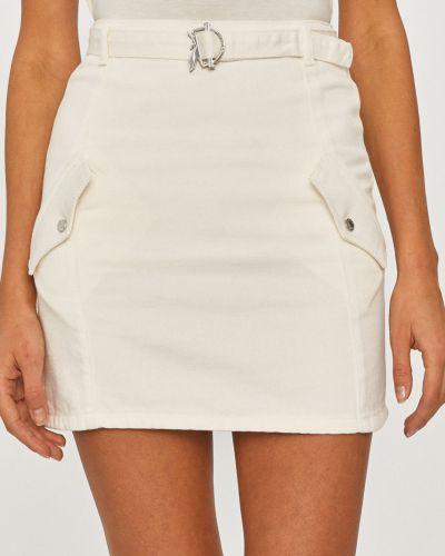Biała spódnica mini bawełniana casual Patrizia Pepe