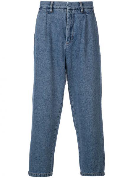 Плиссированные прямые джинсы байкерские на пуговицах с жемчугом Second/layer