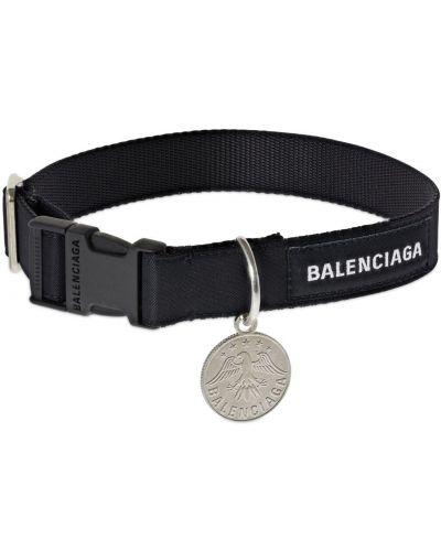 Czarny choker z haftem z nylonu Balenciaga