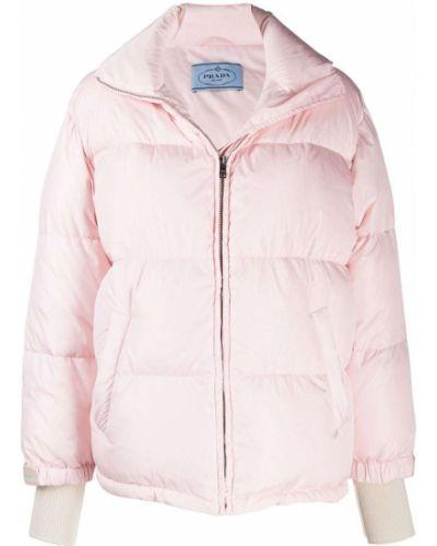 Длинная куртка - розовая Prada