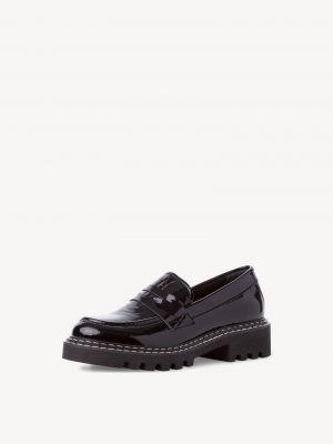 Черные кожаные туфли Tamaris