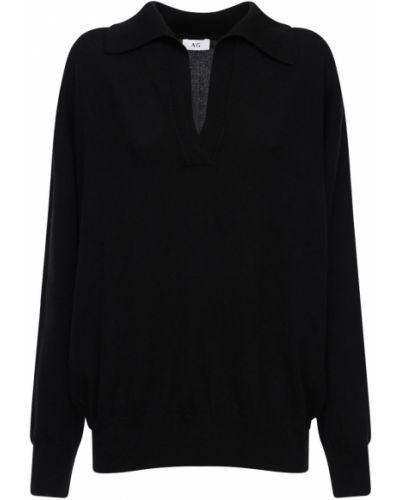 Кашемировый свитер с V-образным вырезом с воротником Ag