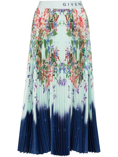 Bawełna bawełna pofałdowany niebieski spódnica midi Givenchy