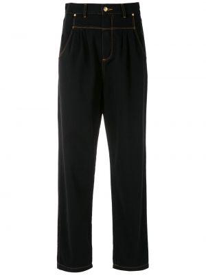 Черные прямые джинсы с карманами Amapô