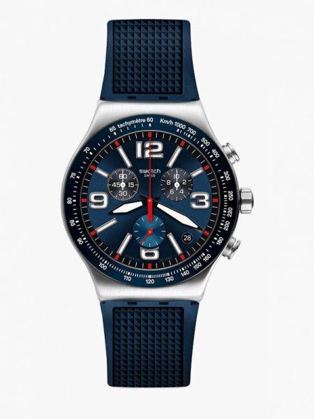 Синие часы швейцарские Swatch