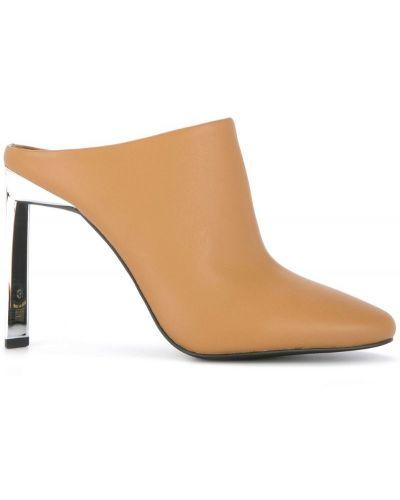 Мюли на каблуке кожаные Senso