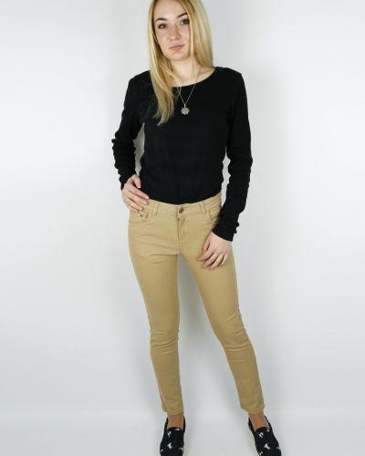 Коричневые брюки Cropp