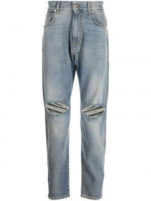 Niebieskie jeansy z paskiem Represent