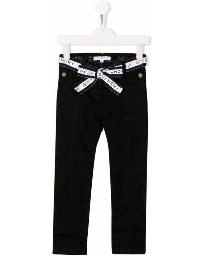 Джинсы с логотипом черные Givenchy Kids