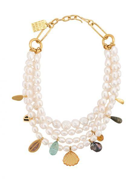 Белое ожерелье с жемчугом Lizzie Fortunato Jewels