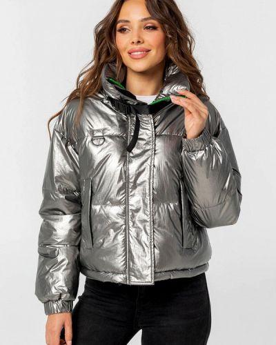 Серебряная теплая куртка Whitefox