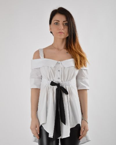 Блузка с бантом - белая Argent