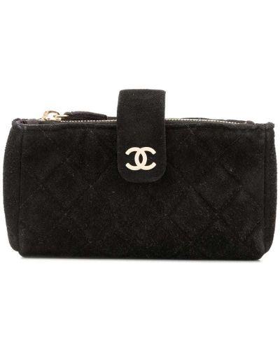 Косметичка стеганая на молнии Chanel Pre-owned
