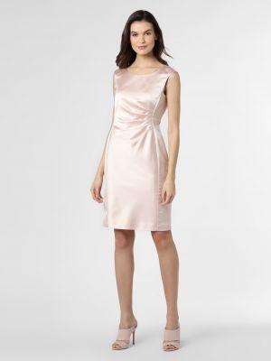 Satynowa różowa sukienka Ambiance