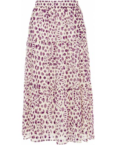 Хлопковая бежевая юбка с подкладкой Paul & Joe