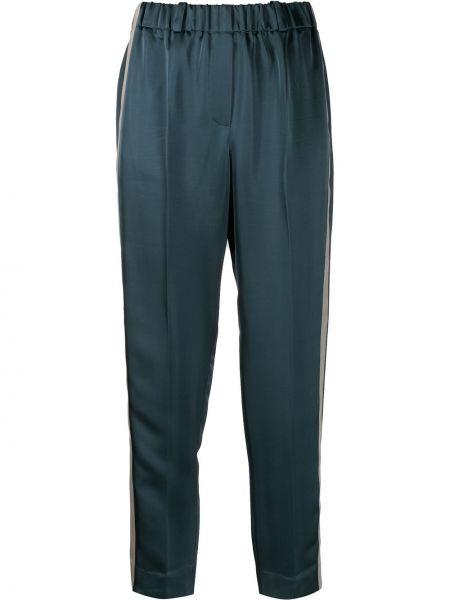 Укороченные брюки стрейч в полоску Incotex