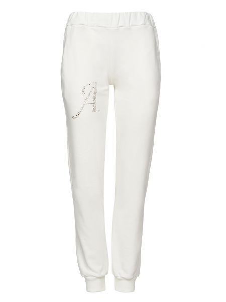 Хлопковые белые спортивные брюки Alessandro Dell'acqua