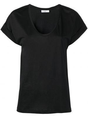 Прямая черная футболка с вырезом Closed