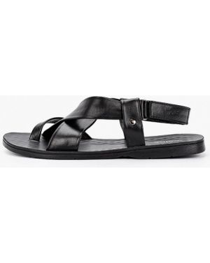 Черные кожаные сандалии Wojas