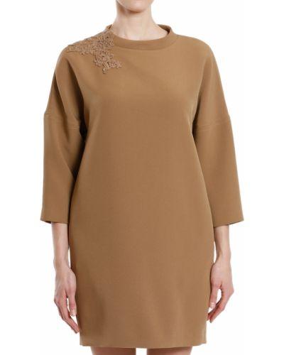 Платье осеннее бежевое Scervino Street