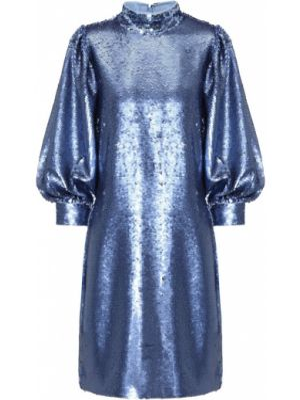 Платье мини с пайетками синее Ganni