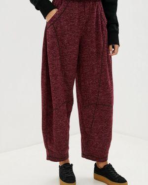 Свободные брюки бордовый расклешенные мадам т