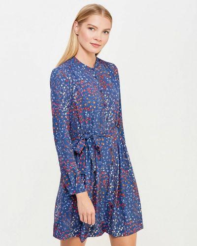 Синее платье French Connection