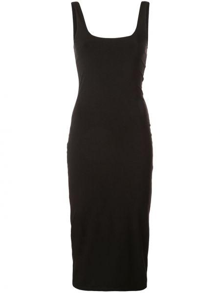 Черное приталенное платье миди на молнии с вырезом Cinq À Sept