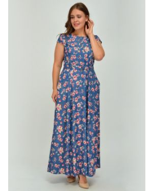 Платье макси на пуговицах со складками Viserdi
