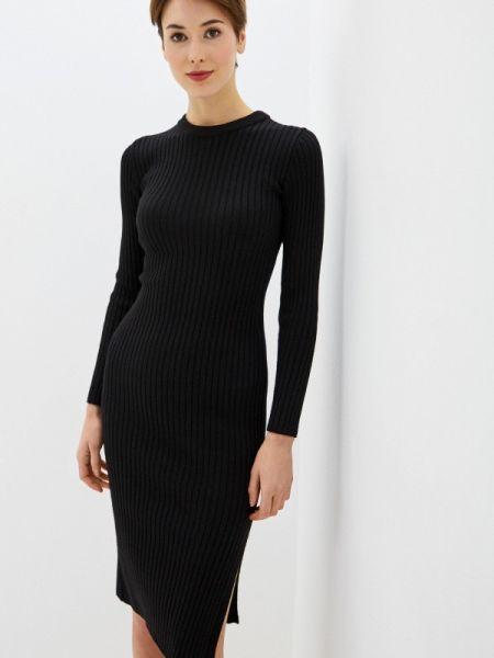 Черное вязаное платье Knitman