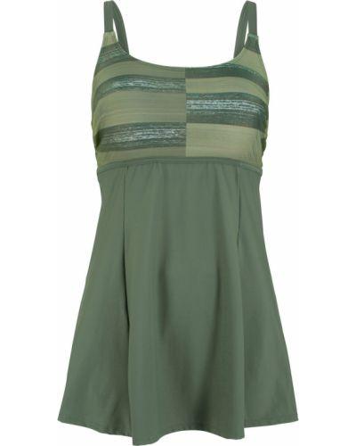 Оливковое купальное платье Bonprix