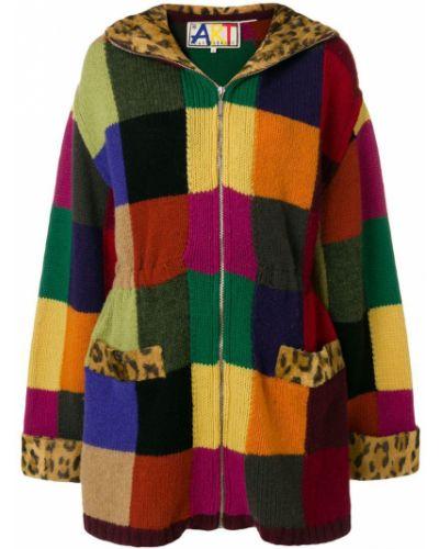 Шерстяное длинное пальто с капюшоном айвори Jc De Castelbajac Pre-owned