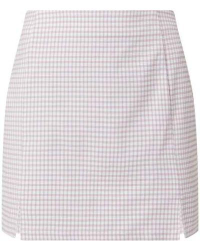 Fioletowa spódnica mini z wiskozy Review