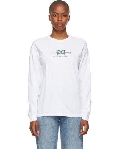 Biała t-shirt z długimi rękawami Museum Of Peace And Quiet